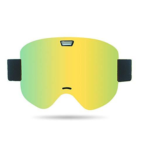 Peggy Gu OTG Ski Goggles - Over Brille Ski/Snowboard Brille für Männer, Frauen und Jugendliche - 100% UV-Schutz Schutzbrillen (Farbe : Grün) - Frauen-ski-schutzbrillen Grün