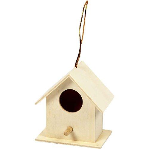 Creativ, Casetta per gli uccelli decorativa in legno di pioppo 6x6 cm