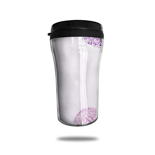 FGRYGF Flower Dandelion Purple Unisex Food Grade ABS Travel Mugs Coffee Insulated...