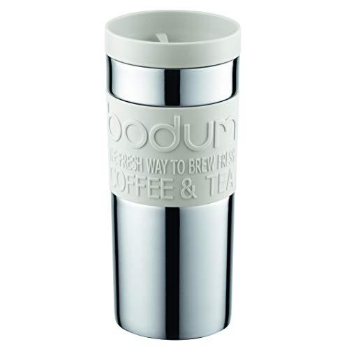 Bodum 11093-913Tazza Da Viaggio Travel Mug, 0,35l, acciaio inossidabile 8,5x 8,5x 18cm, colore: Bianco
