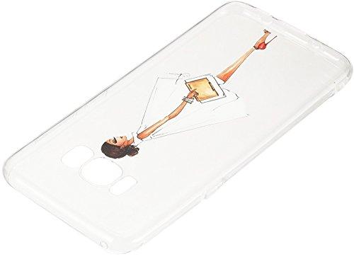 Nnopbeclik Silikon Transparent Hülle Für Samsung Galaxy S8, Ultra Slim Weich TPU Cover Case [Einfaches Design] Durchsichtig Blume Case Etui, Druck Multi Muster [Schmetterling] Niedlich Schutzhülle Glä Gesicht Mädchen