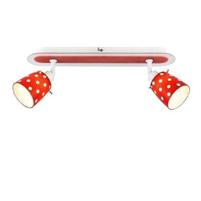 Dotti rot-weiss 2er Deckenstrahler Halogen Brilliant G56829/81 von Brilliant - Lampenhans.de
