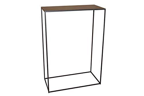 CALEIDO Konsolentisch Sideboard Beistelltisch Konsole Flurtisch Mali Metall Dunkelbraun Höhe 85 cm Grösse 2