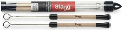 Stagg 20925 Wooden Handle Sbru2-Wm Retractable Wire Brushes