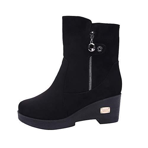 Bazhahei donna scarpa,ragazza stivali da neve traspirante caldo,invernali/autunno tacchi alti scarpe singole stivaletti a tubo centrale casual con tacco basso stivale,scarpe moda da donna