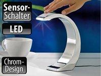 """Lunartec 1Watt-LED Design-Tischlampe """"Silver Moon"""" mit Sensorschalter von Lunartec"""