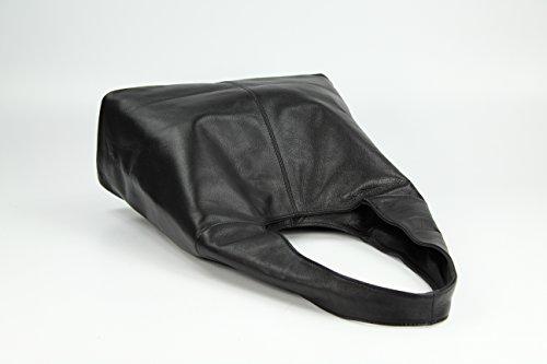 b27ce2b03c99f Leder Handtasche Schultertasche Shopper Modena Damen Ledertasche  Umhängetasche - Farbauswahl - 37x30x13 (