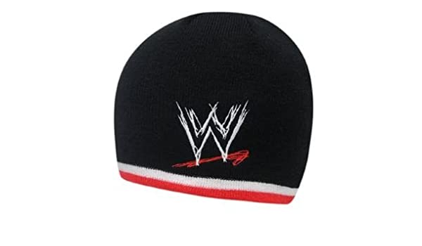 e08a67ebf32 Authentic WWE Beanie Hat - World Wrestling Entertainment Tipped Kids Beanie  (Smackdown