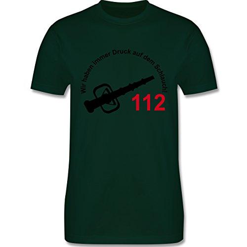 Feuerwehr - Wir haben immer Druck auf dem Schlauch - Herren Premium T-Shirt Dunkelgrün