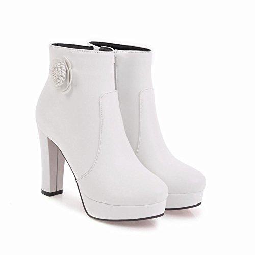 MissSaSa Donna Scarpe col Tacco Alto Elegante e Affascinante Bianco