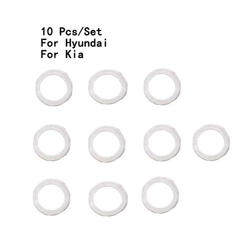 DONGMAO 10 PCS Neuf OEM véritable pour Hyundai pour K/IA Joint de Filtre à Huile 21513-23001 Joint de Carter d'huile Joint de vis Tampon à Huile Coussin