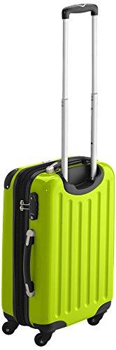 HAUPTSTADTKOFFER - Alex - 2 x Handgepäck Hartschale glänzend, TSA, 55 cm, 42 Liter, Graphit-Apfelgrün Apfelgrün-Magenta