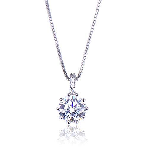 XAM S925 Sterling Silber Halskette, Einfache Vielseitige Anhänger Kette, Damenmode Schöne Schlüsselbein Kette, Freunde Und Familie