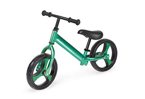 Pinolino Laufrad Luke, Aluminium, unplattbare Bereifung, Lenker und Sattel stufenlos höhenverstellbar, für Kinder von 3 - 5 Jahren, grün