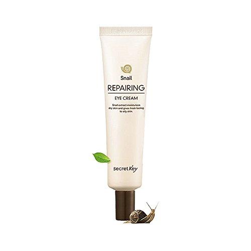 Secret Key - Snail Repairing Eye Cream - Augencreme mit Schneckenschleim und EGF gegen trockene und gestresste Haut für Frauen und Männer - Antifalten Augencreme lindert Faltentiefe - Cremes - Gele - Nachtpflege - Tagespflege - Schneckencreme fürs Gesicht / Augenpartie