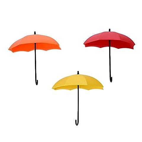 3Colorful Regenschirm Wandhaken Schlüssel Halter Dekorative Wand Tür Haken Aufhänger Organizer, 3#