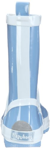 Playshoes uni Gummistiefel Uni Mit Reflektorstreifen mit Reflektorstreifen, Bottes mixte enfant Bleu-TR-A-4-302