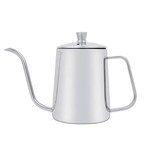 Jeffergarden 550 ml Edelstahl Lange Schwanenhals Kaffeekanne Wasserkocher mit Deckel für Home Kitchen Coffee Shop