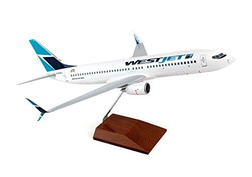 b737-700-westjet-c-fbwj-w-wood-stand-desktop-model-skymarks-1-100-scale