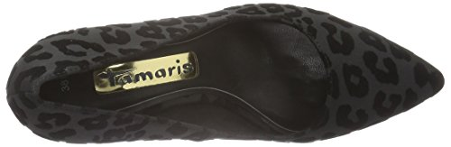 Tamaris Damen 22457 Pumps Schwarz (Black Struct. 006)