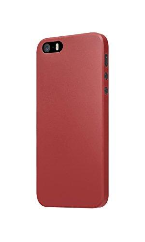 Slimskin  Plastique  Noir  Etui rigide  pour iPhone 5S  Acc?s libre ? tous les ports et contr?les Red