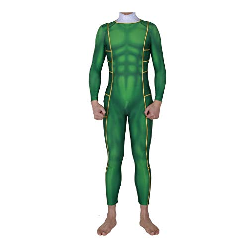 Kind Ranger Power Kostüm Grünes - WOLJW Power Ranger Adult Cosplay Kostüm Jumpsuit Jumpsuit Partykleid Lycra Strumpfhose Halloween Weihnachten Performance Show,Grün,S