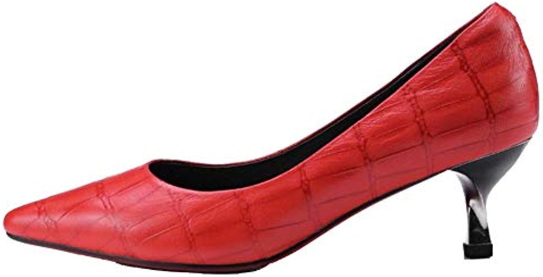 ZQZQ Cuoio, Scarpe da Donna, Lavoro, Moda, Versatile, Versatile, Versatile, Antiscivolo | Nuove Varietà Vengono Introdotti Uno Dopo L'altro  55ce7f