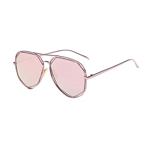 Black Temptation Street Fashion Anti-UVA Anti-UVB Katzenauge verspiegelte Metallrahmen Sonnenbrille