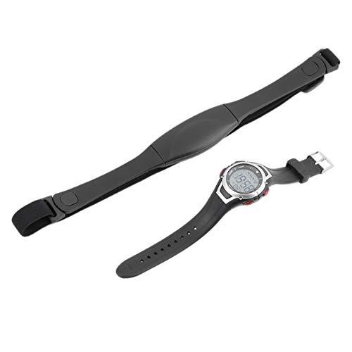 LoveOlvido 3 Meter Wasserdichte Pulsuhr Wireless Brustgurt Sport Armbanduhr Laufen Tauchen Uhr mit Hintergrundbeleuchtung Wecker