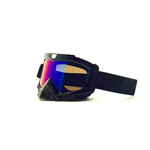 Adisaer Fahrradbrille Mit Sehstärke Motocross Helmbrillen Mit Winddichter Brille Skibrille Rennbrille Black Colorful Damen Herren