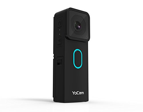 MOFILY YC001 YoCam Standard Edition Multifunktions Action Life Cam (Video 2.7K/1080P//Foto 8MP) Schwarz