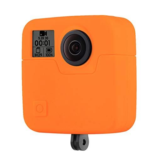 ZHANGYANENN Kamerazubehör for GoPro Fusion Silikon Schutzhülle (Schwarz) (Farbe : Orange) -