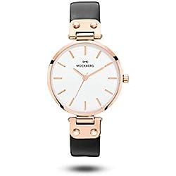 Mockberg Sigrid Women's Analogue Quartz Watch, Leather Rose Gold A1001