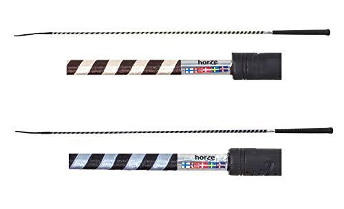 NETPROSHOP Reitgerte Dressurgerte gestreift in knalligen Farben Auswahl, Farbe:Dunkelbraun/Beige