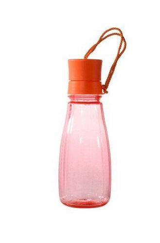 14-Unzen orange Wasserflasche mit String Wasserkaraffe