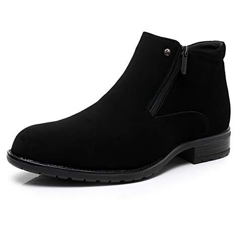 FMWLST Stiefel Herren Winter Business Boots Doppel-Reißverschluss Pelz Stiefel Kleid Schuhe, 43 -