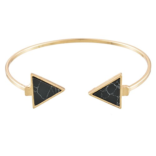 MJARTORIA Femme Bijoux Bracelet de Main Jonc Ouverte Decoration Pierre Triangle Style Simple No