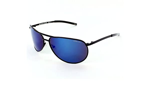 eab522d188 Smith Optics Serpico Slim Matte Black Frame Blue Mirror Polarized Lens  Metal Sunglasses  Amazon.co.uk  Sports   Outdoors