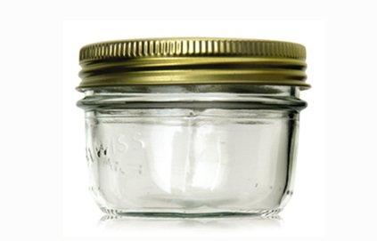 La Parfait Terrine Gläser mit Schraubverschluss Deckel, 200ml (3Stück) (Jam Le Parfait)