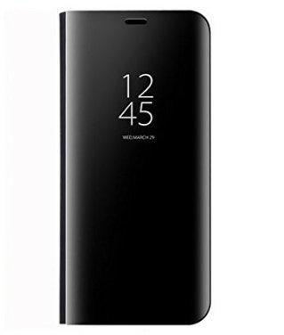 BCIT Xiaomi Redmi 5 Plus Funda - Modelo inteligente Fecha / Hora Ver Espejo Brillante tirón del caso duro Con para el Xiaomi Redmi 5 Plus - Negro