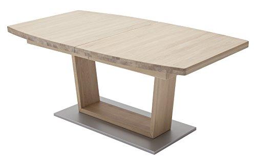 Robas Lund Tisch, Esszimmertisch, Cantania B, Eiche/Massivholz/Bianco, 140 x 90 x 77 cm, CAN14BBE