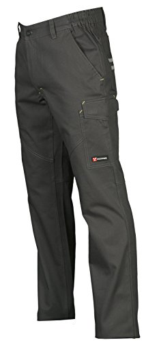 Pantalone da Lavoro 100% Cotone Multistagione Con Tasche Anteriori Payper Worker, Colore: Smoke, Taglia: L