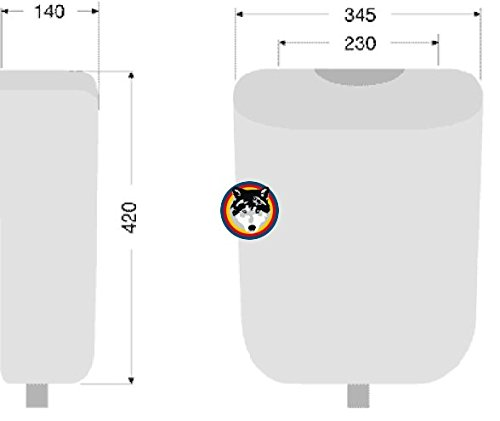 Format WC Spülkasten 6 liter Farbe manhattan grau