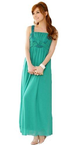 HOT seller Cocktail Prom dress-Abito da sera lungo abito pieghettato sezione Chiffon abito da sera malachite green XX-Large