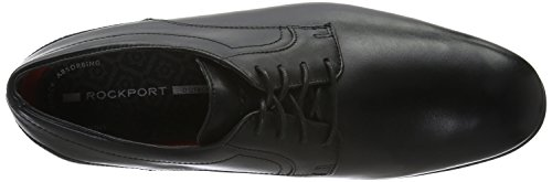 Rockport - Styleconnected Plain Toe, Scarpe stringate Uomo Nero (Schwarz (BLACK Lea))