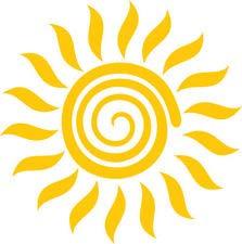 Preisvergleich Produktbild Chase Grace Studio Tribal Sun Vinyl-Aufkleber,  gelb,  für Auto,  LKW,  SUVs,  Vans,  Laptops,  Wände,  Glas,  Metall,  13 x 13 cm,  CGS978