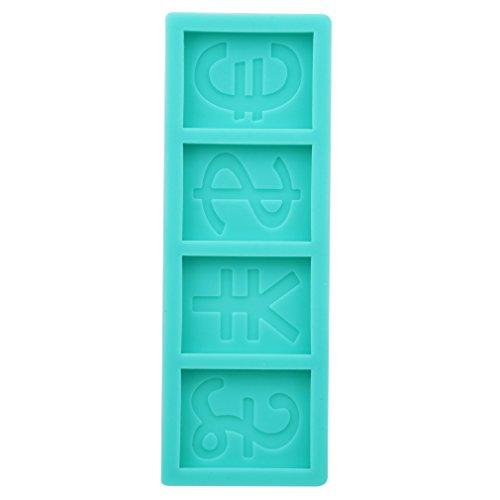 Yinew Fondant Mold Mold Dollar Shaped Silikonform für Kuchen Dekorieren Gum Paste Polymer Clay (Ein-dollar-gum)