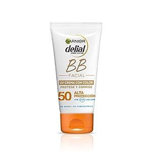 Garnier Delial BB Sun Crema Protector Solar con Color Especial Rostro y Escote IP50+ y con Vitamina E – 50 ml