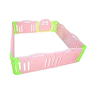 CL-* Children's Fence Guardrail Learning Walking Fence Indoor Safety Guardrail ABS Material Child Playpen (Size : 215 * 215 * 64.5cm)   2
