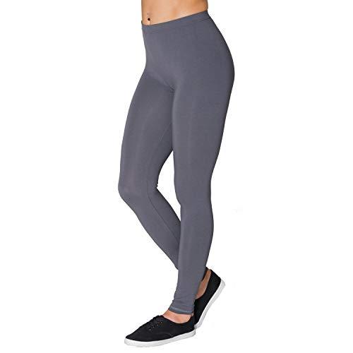 Alkato Damen Leggings Lang Blickdicht Viskose, Farbe: Graphit, Größe: 36